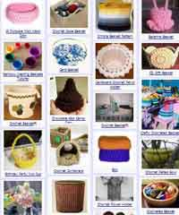 Over 75 Free Crocheted Baskets Patterns