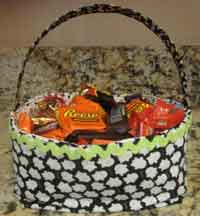 Trick or Treat Fabric Baskets Tutorial