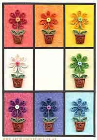 Flower Pot Quilling Card