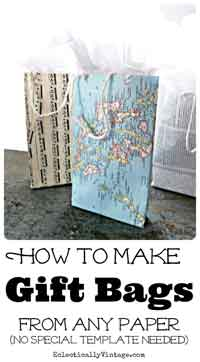 Easy Paper Gift Bag Tutorial