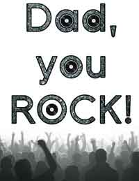 You Rock Dad Printable Card