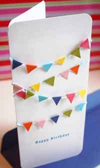 Mini Bunting Birthday Card Tutorial