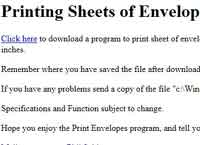 Printing Sheets of Envelopes