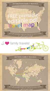 Printable Family Travel Maps