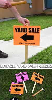 Printable Yard Sale Sign
