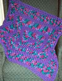 Purple Delight Granny Square