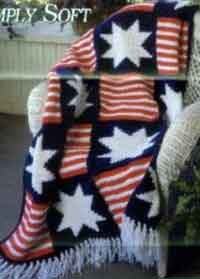 Simply Soft Stars and Stripes Afghan
