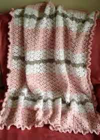 Crochet Net Stitch Patterns : Over 50 Free Crocheted Baby Blanket Patterns at AllCrafts.net