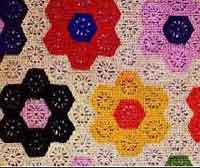 Grandmothers Flower Garden Afghan
