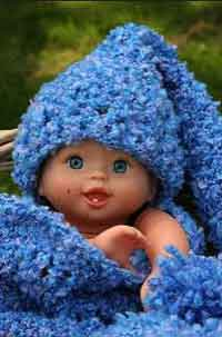 Baby Snuggle & Hat Set