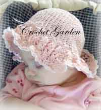 Darling Crocheted Ruffled Sunhat