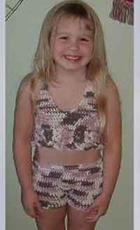 Over 75 free crocheted beachwear patterns swimsuit coverup tankini girls swimsuit dt1010fo