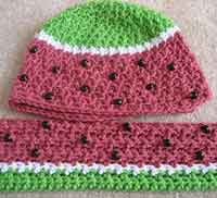Watermelon Hat and Scarf Patterns