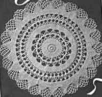 Over 100 free crochet doily patterns at allcrafts 1942 doily ccuart Gallery