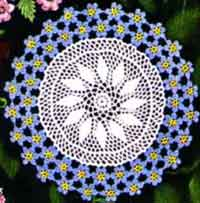 Forget-Me-Not Doily