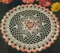 Shaded Pink and White Doily