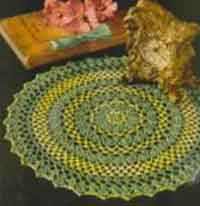 Yellow and Chartreuse Doily