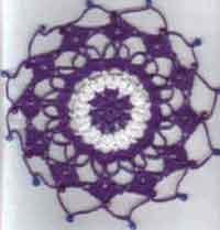 Vintage Crochet Flower Floral oval ruffle DOILY Pattern | eBay