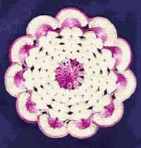 Fancy Purple Doily