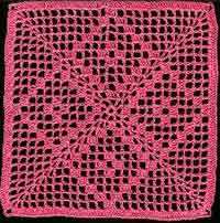 Filet Square Doily