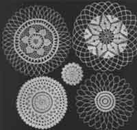 Five Round Doilies