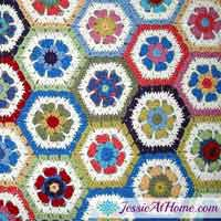 Flower Hexagon Granny Squares