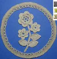 Irish Crochet Floral Picture