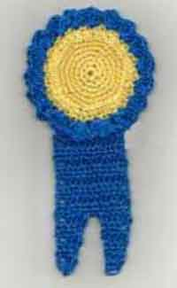 Blue Ribbon Bookmark or Fridgie