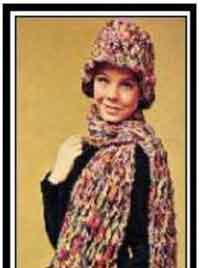 Adjustable Hat & Scarf 1963_Crochet