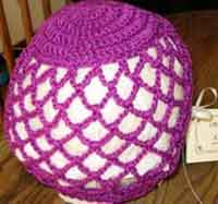 Crocheted Mesh Cap