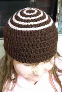 Girls Chocolate Truffle Hat