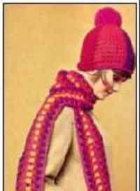 Striped Scarf & Hat - Groovy Crochet -