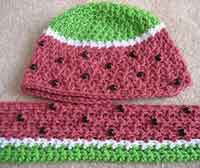 Watermelon Hat and Scarf