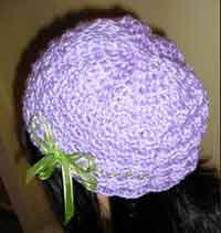 Be-ribboned       Lavender Hat