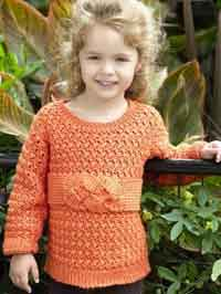 c87f75580 Candy Corn Kids Poncho Crochet Pattern. Childs Friendship Knot Sweater