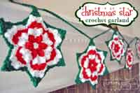Christmas Star Granny Garland