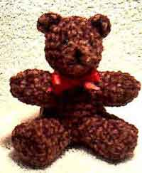 Chenille Bear Christmas Ornament