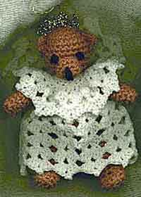 christmas balls crochet pattern angel bear ornament