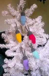Crocheted Lightbulb Ornament