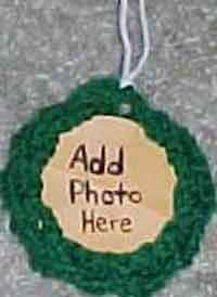 Braided Wreath Photo Ornament