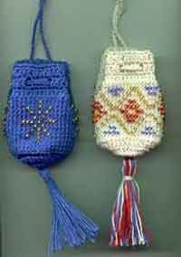 Anns Beaded Crochet Amulet Bags