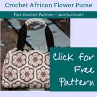 Crochet African Flower Purse