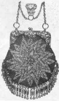 1902 Beaded Chatelaine Purse Chart