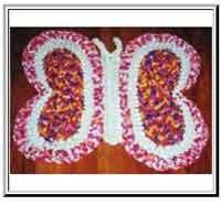 Butterfly Crochet Rag Rug Pattern