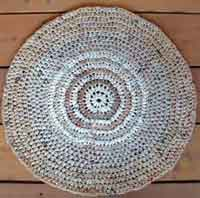 Recycled Round Plarn Rug