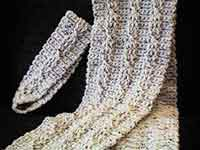 Twisted Cable Scarf and Headband Crochet Pattern