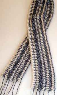 Crazy Mixed Up Stitches Scarf