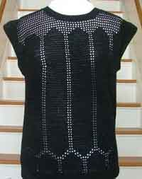 Black Openwork Summer Top.