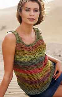 Crochet Top in Paris & Cotton Viscose