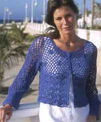 Crocheted Cardigan in Muskat